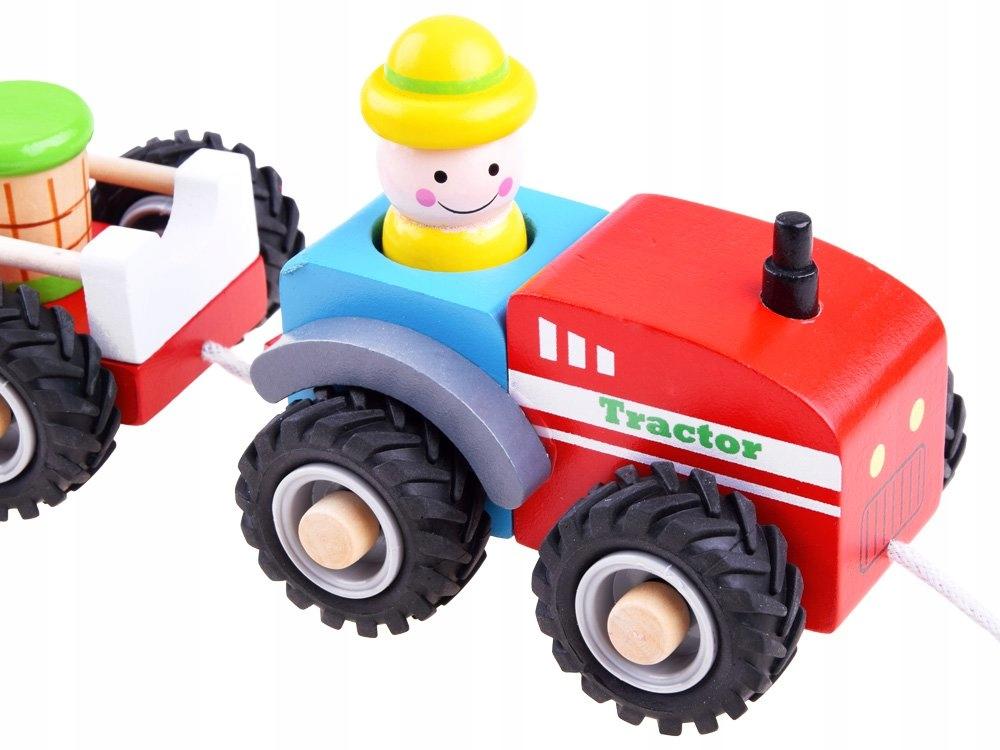 Traktor z przyczepą drewniana Kolejka farma ZA3566 Certyfikaty, opinie, atesty CE EN 71
