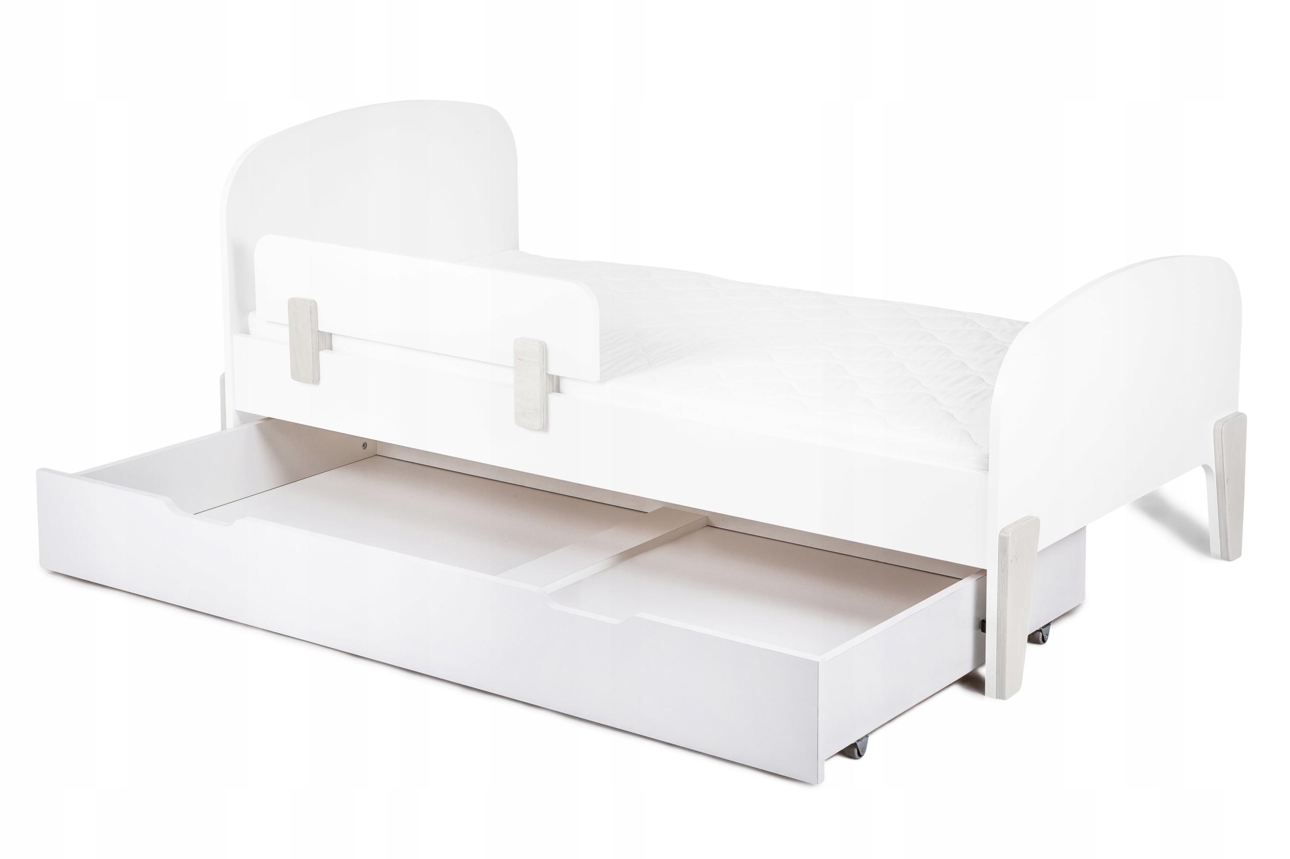 Zásuvka na kolieskach do postele RETRO, biela, 80x160