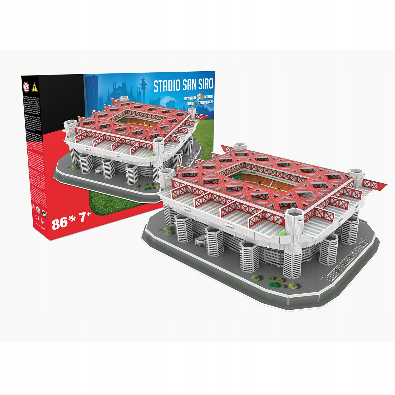 3D hádanka AC Miláno Inter San Siro Red Stadium