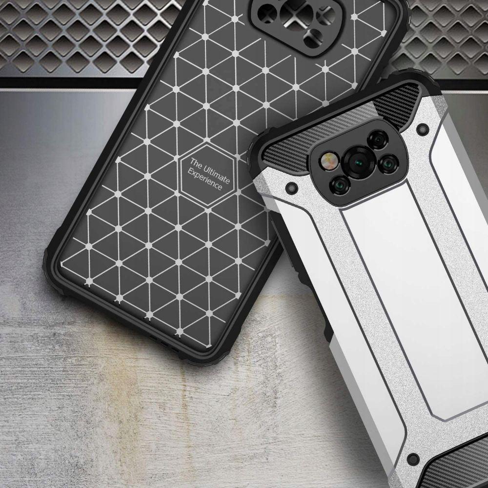 Etui Xarmor + szkło pełne do Xiaomi Poco X3 Nfc Materiał tworzywo sztuczne