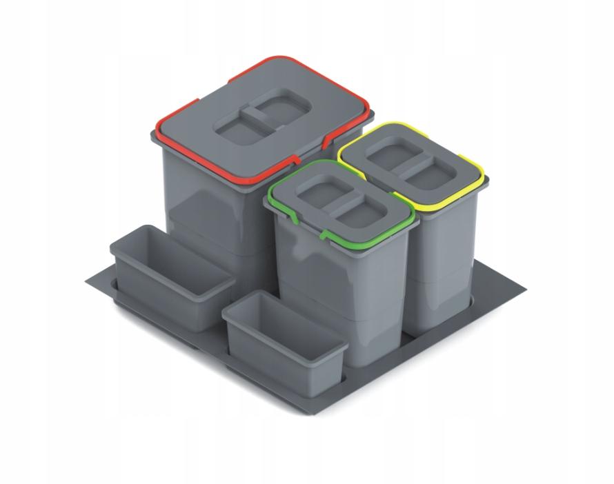 Kosz na śmieci do szuflady 600mm,3 pojemniki REJS