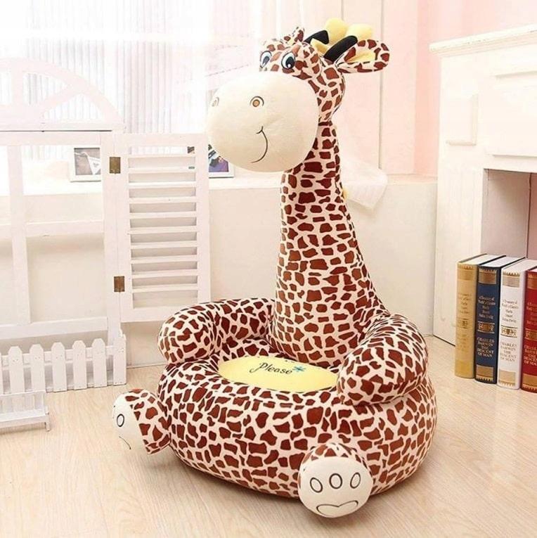 Plyšové pouf kreslo maskot pohovka Žirafa pre deti Značková iná
