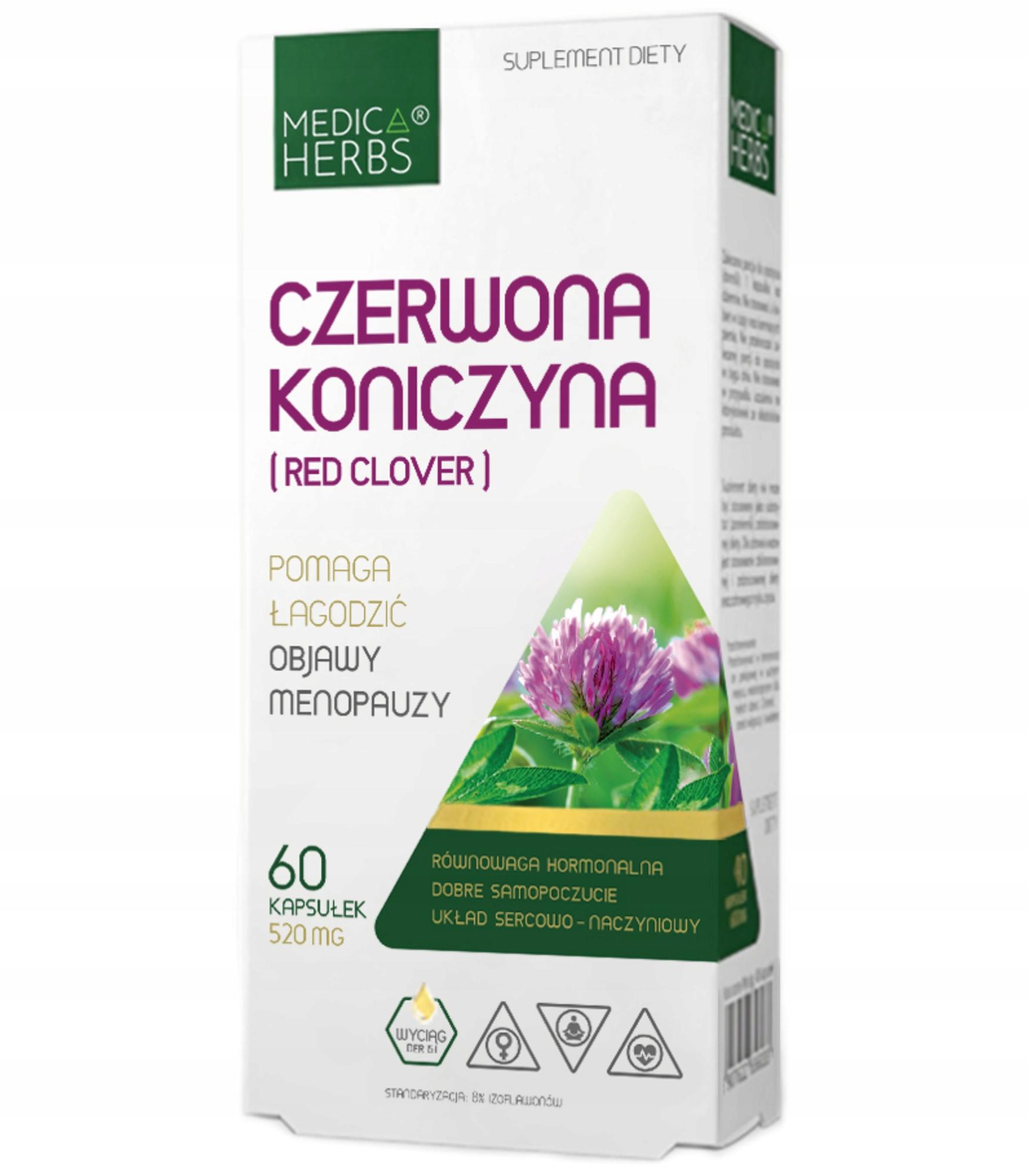 Medica CZERWONA KONICZYNA menopauza Red Clover