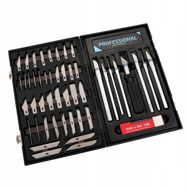 Skalpele precyzyjne nożyki modelarskie 56el BOX