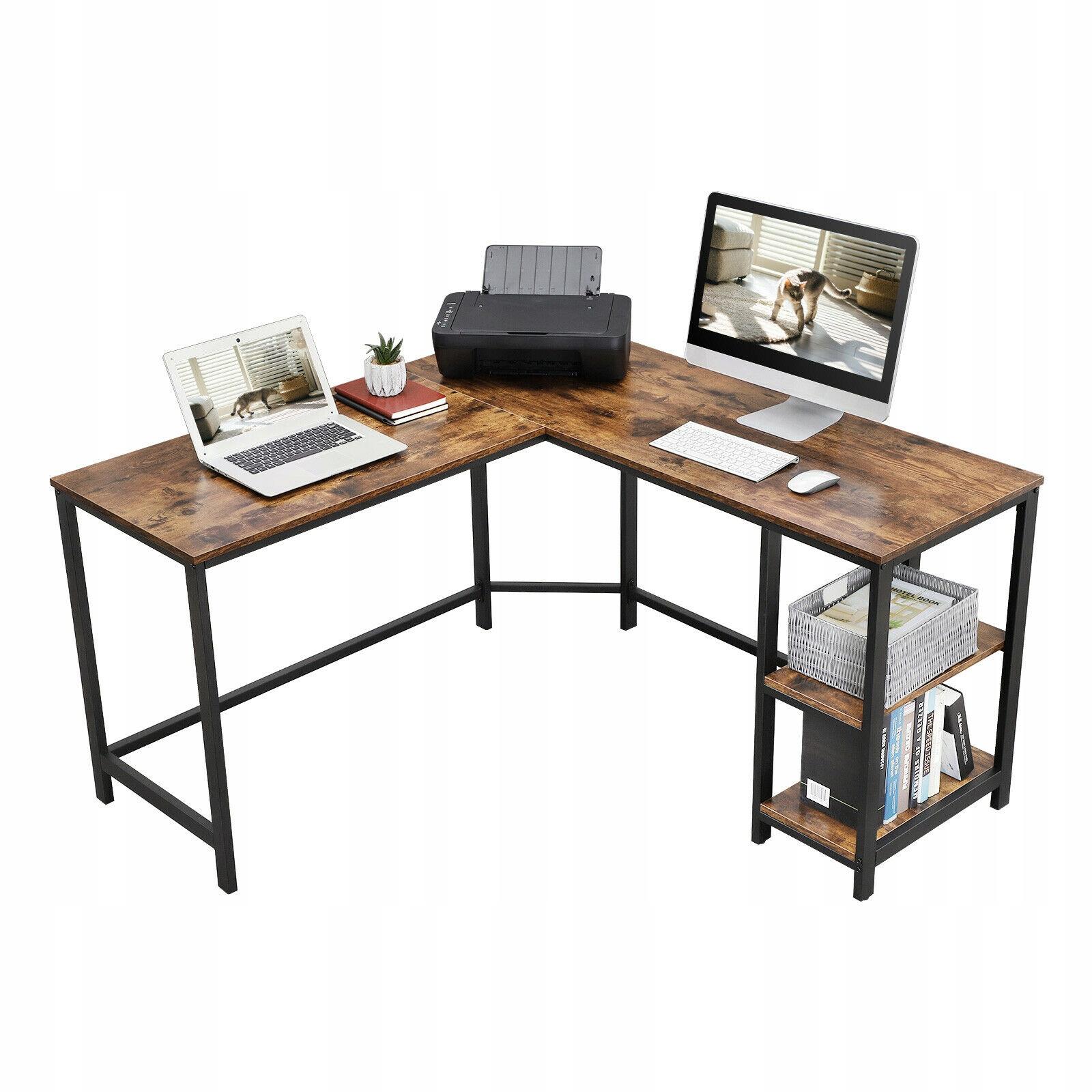 Retro rohový stôl rohový stôl LOFT police