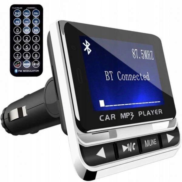 Transmiter samochodowy FM Bluetooth USB z pilotem