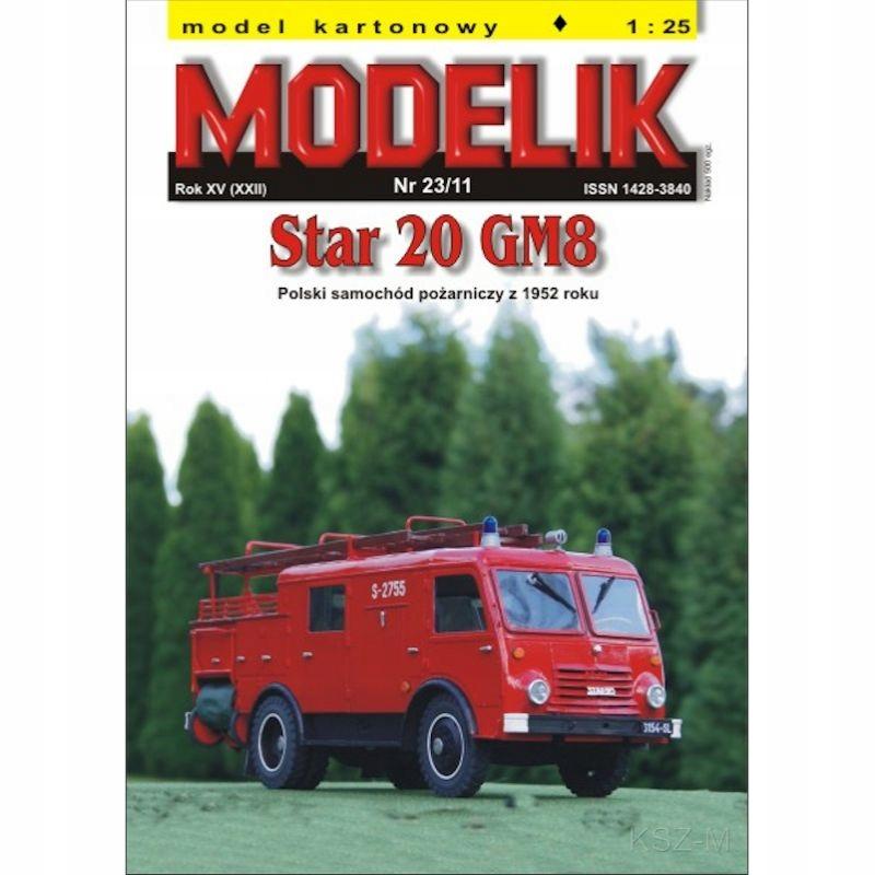 Modelik 23/11 STAR 20 GM8 Fire Truck 1:25