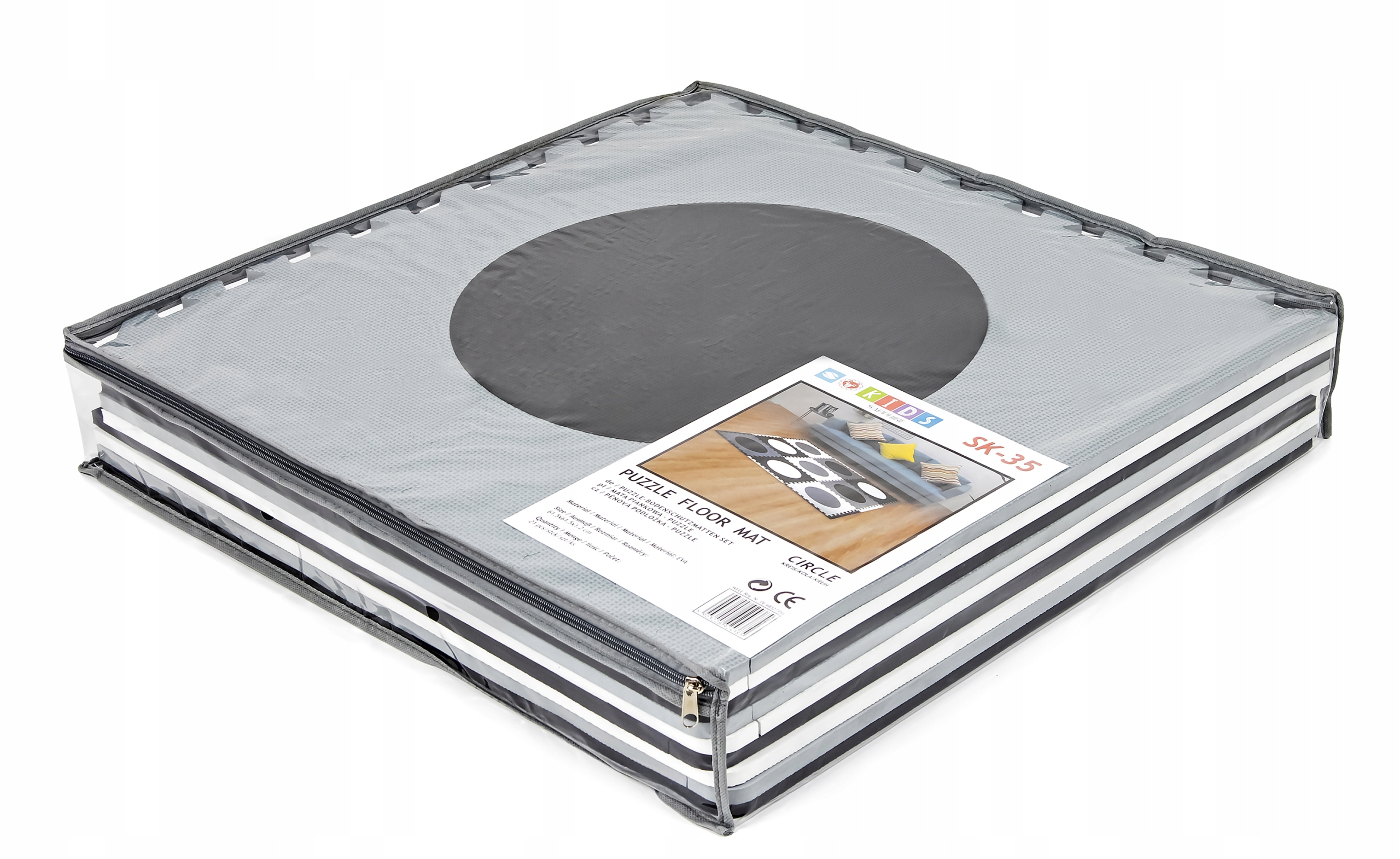 GRUBA MATA EDUKACYJNA puzzle PIANKOWE XXL 21szt Szerokość produktu 178 cm
