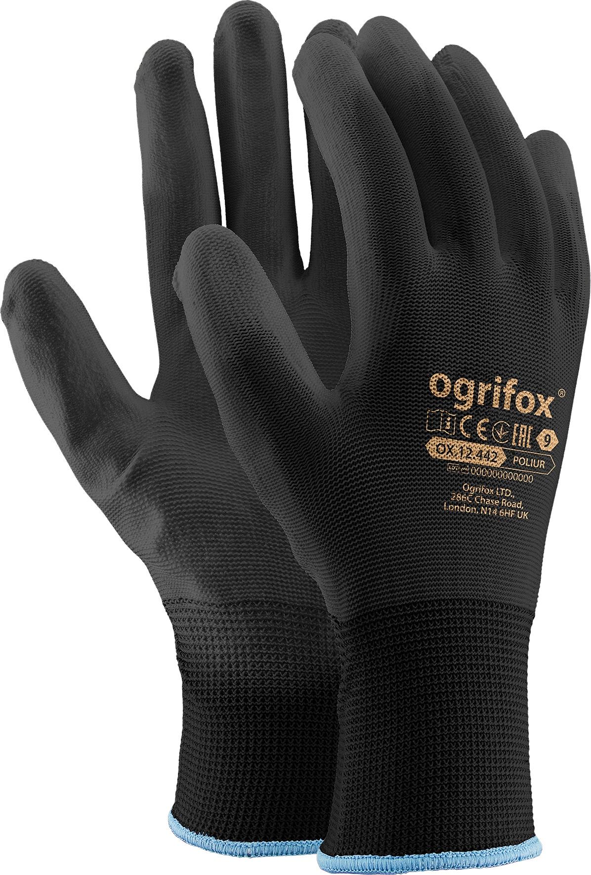 Rękawiczki rękawice robocze poliuretanowe roz. 9-L