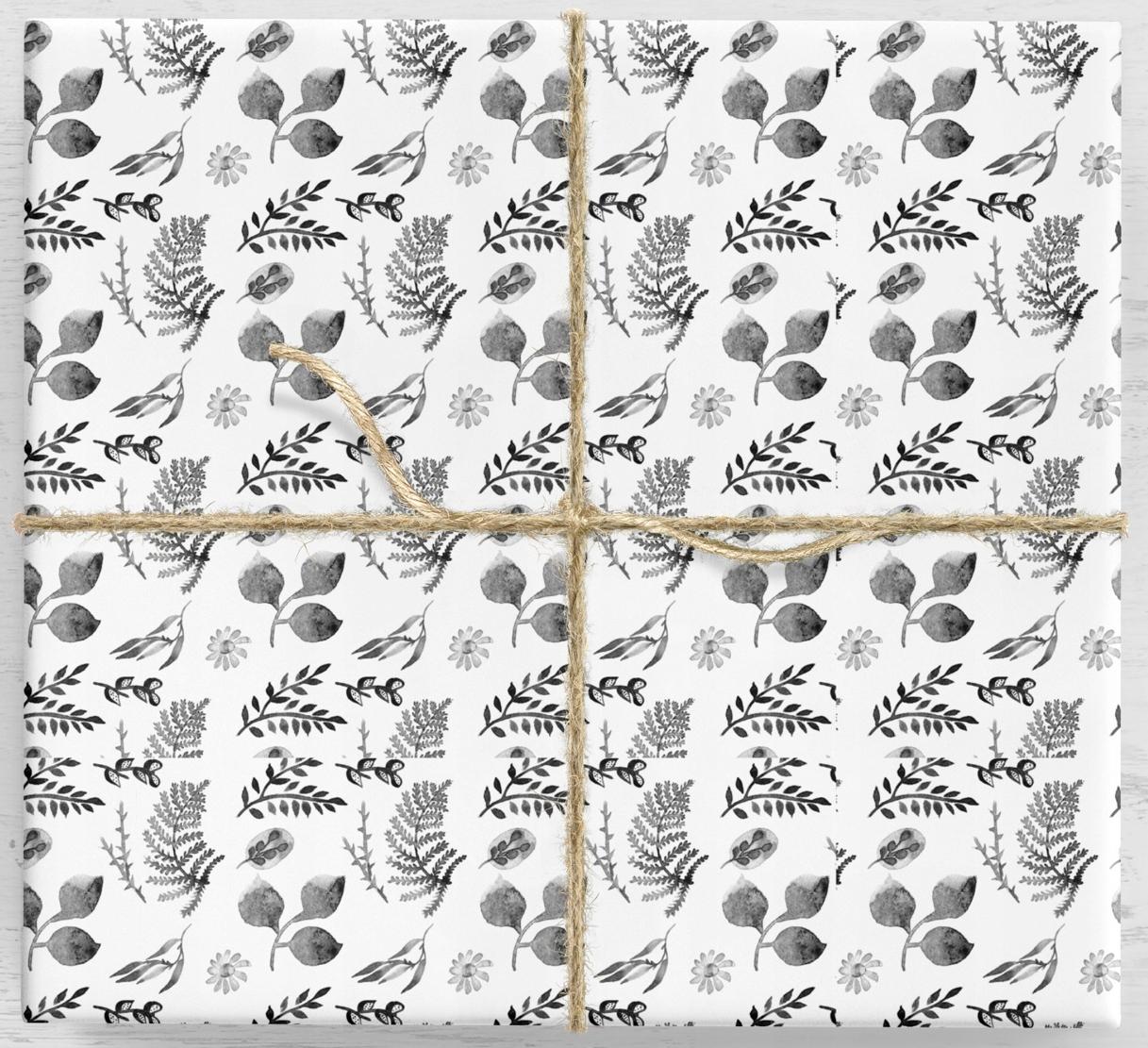 Darčekový baliaci papier Kvetinové listy 10 listov