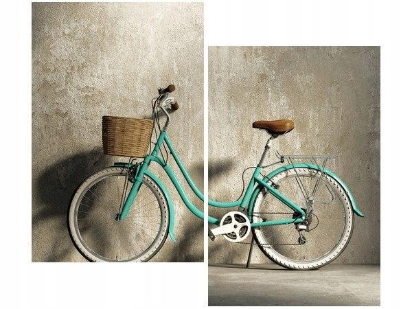 Obrázok retro zeleného klasického bicykla