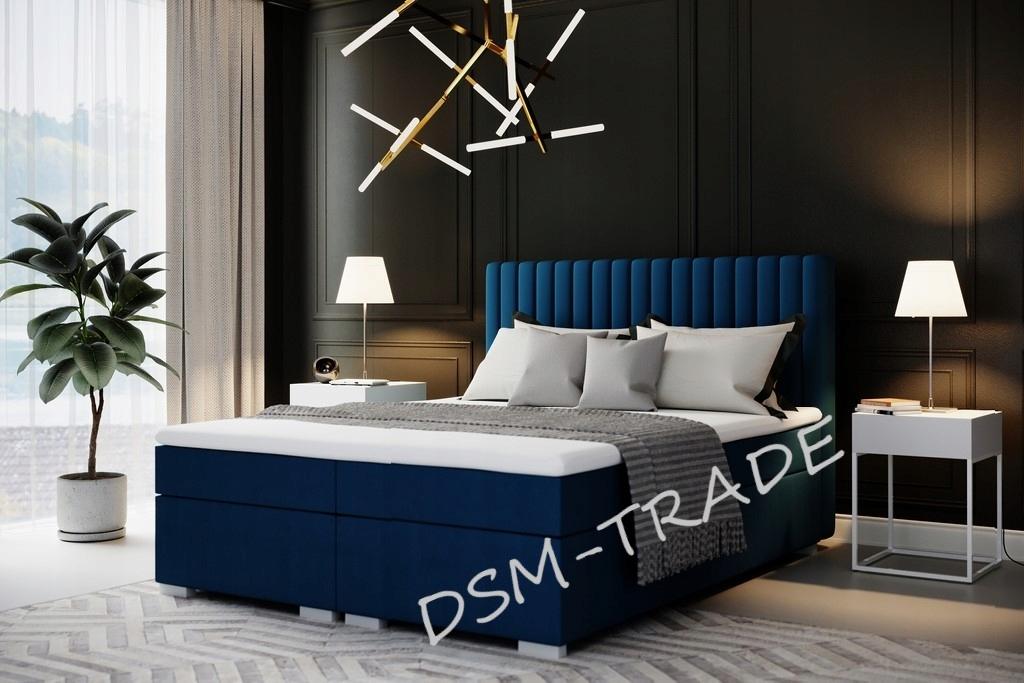 ŁÓŻKO KONTYNENTALNE TAPICEROWANE NICEA 140X200 Rodzaj łóżka Podwójne