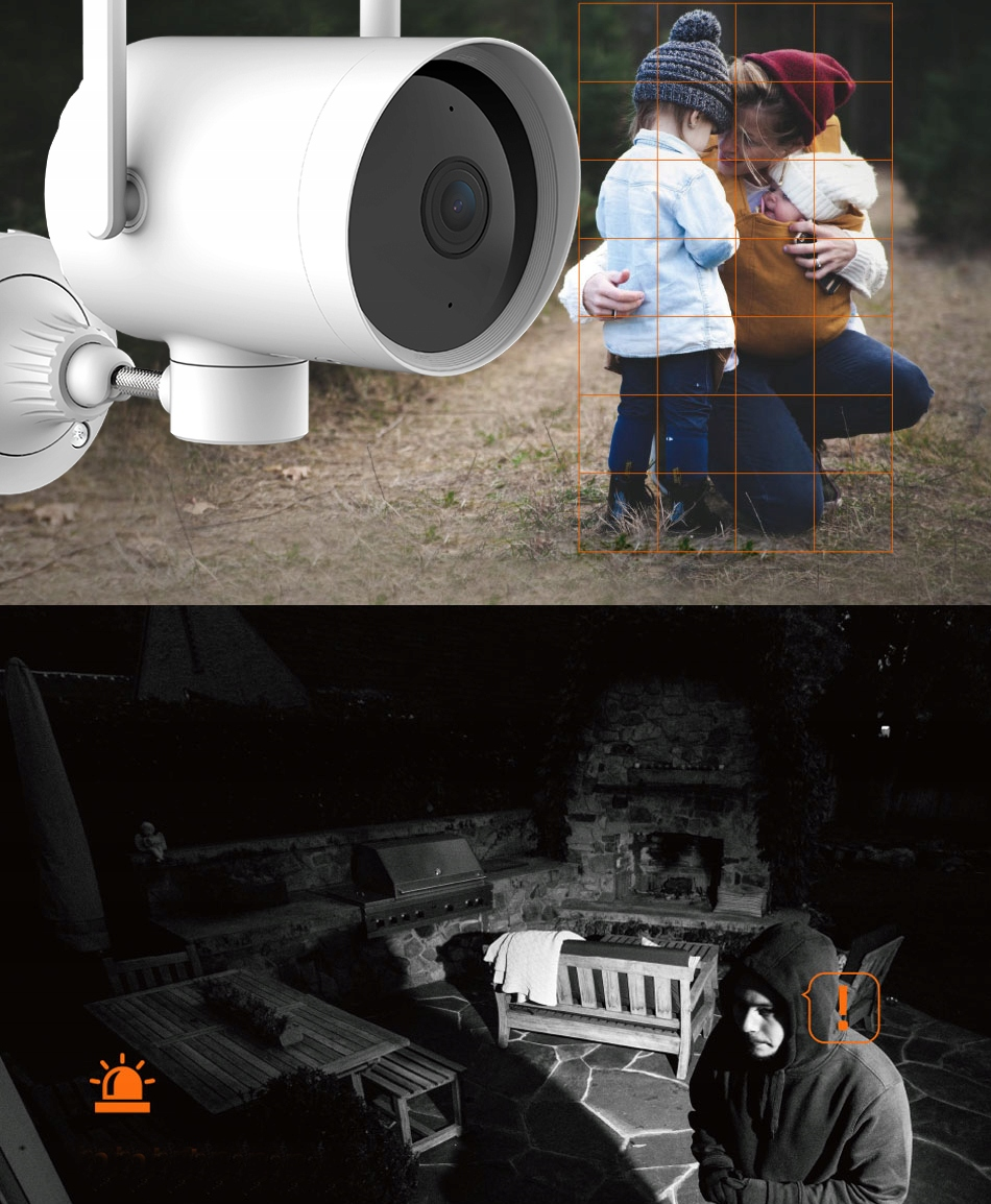 IMILAB EC3 Kamera IP ZEWNĘTRZNA obrotowa 3MPIX 2K Klasa szczelności kamery IP66