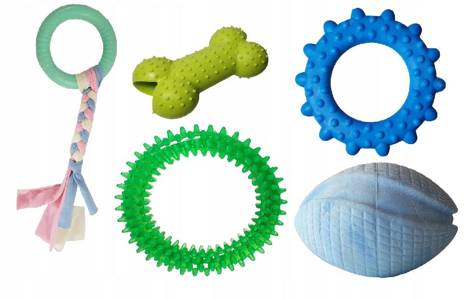 Набор игрушек для собаки Прорезыватель Szarpak aport 5 шт.