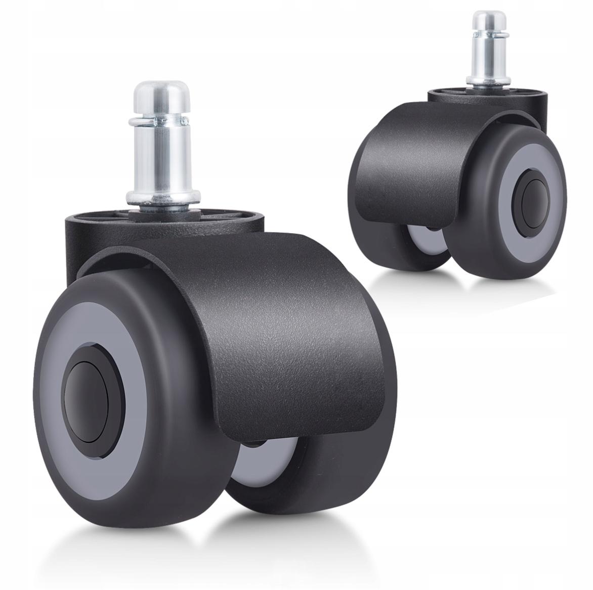 5шт. Резиновые каучуковые колеса на шарикоподшипниках.