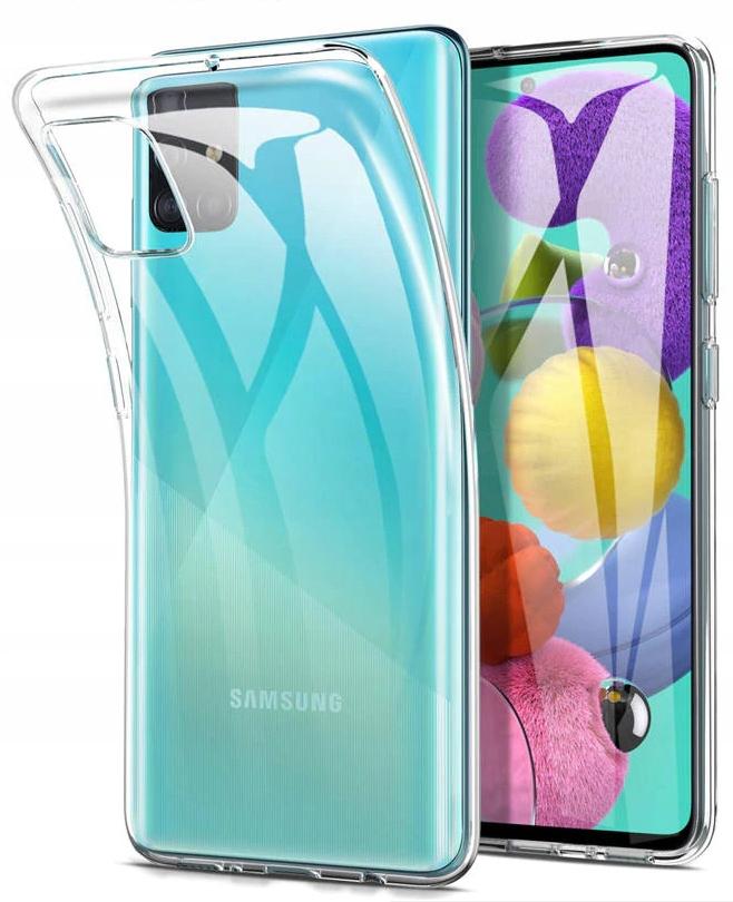 Etui do Samsung Galaxy M51 Clear Case + Szkło 9H Dedykowany model Samsung Galaxy M51