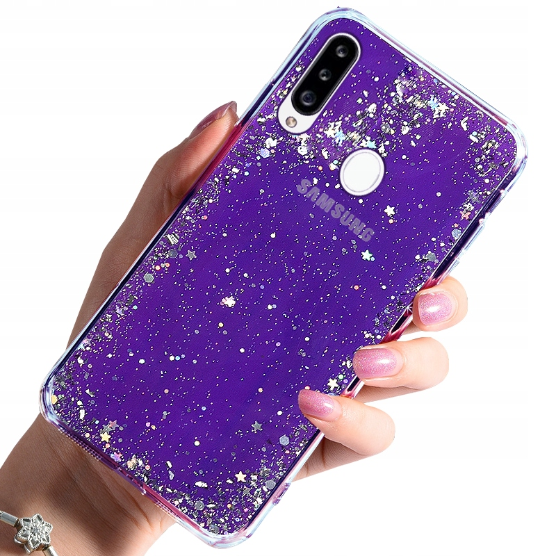 Etui do Samsung Galaxy A20S Case Brokat + Szkło 9H