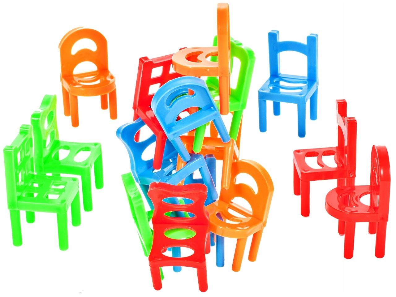 GRA Spadające Krzesła ZRĘCZNOŚCIOWA Dla 3 Graczy Płeć Chłopcy dziewczynki