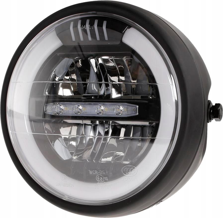 REFLEKTOR LAMPA LED PRZEDNIA HOMOLOGACJA MOTOCYKL