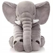 ELEPHANT PLUSH Cushion 70cm ŠEDÝ