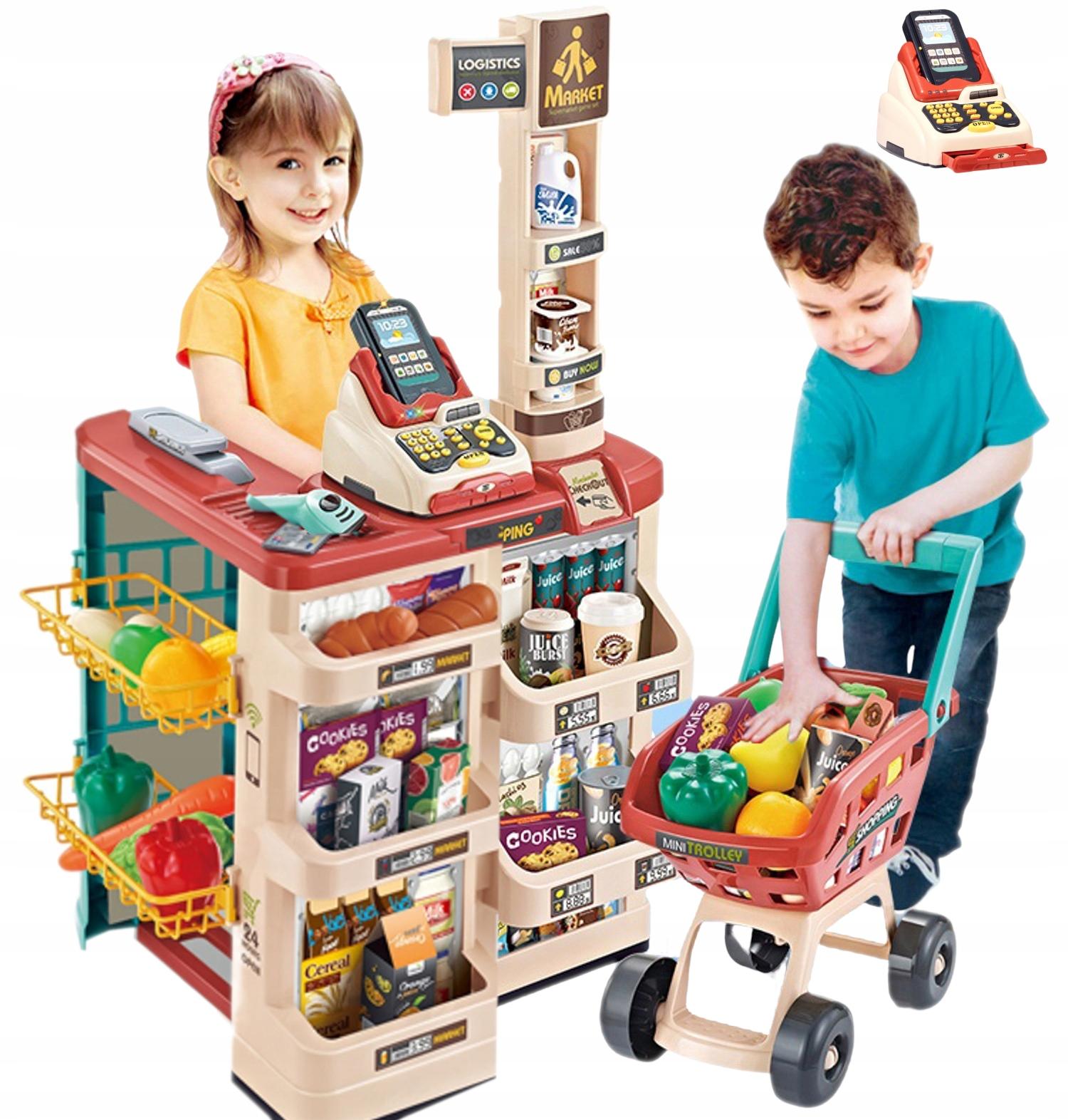 Supermarket wózek na zakupy kasa czytnik 668-78