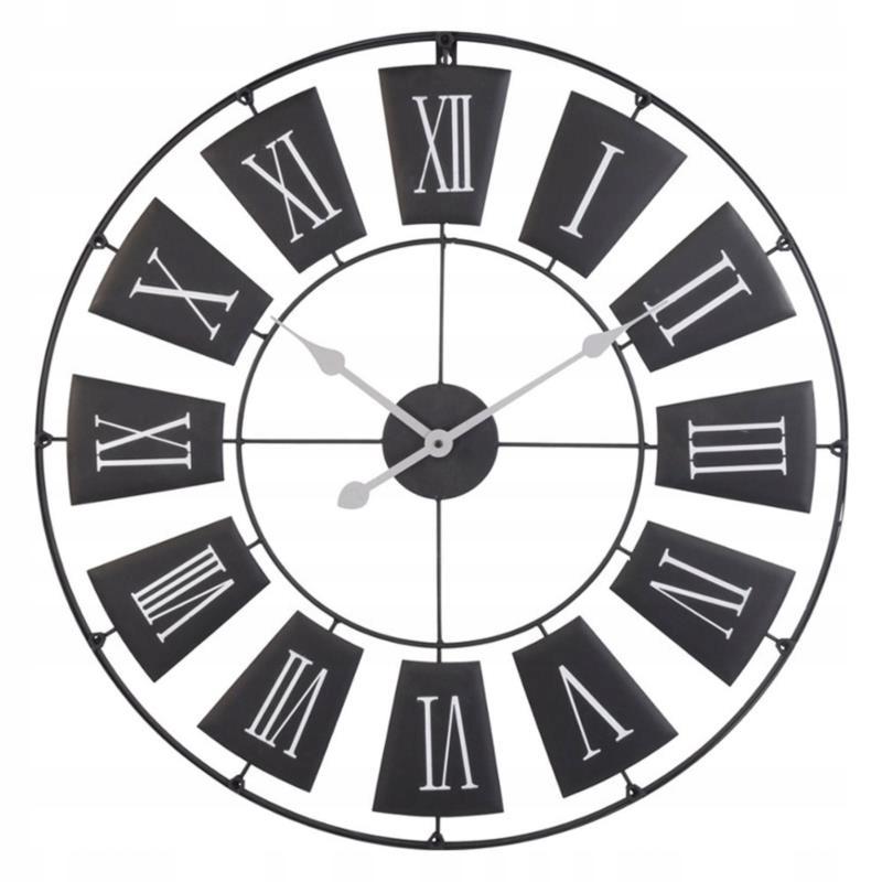 Duży Zegar Ścienny Rzymski Vintage Cichy śr 30cm