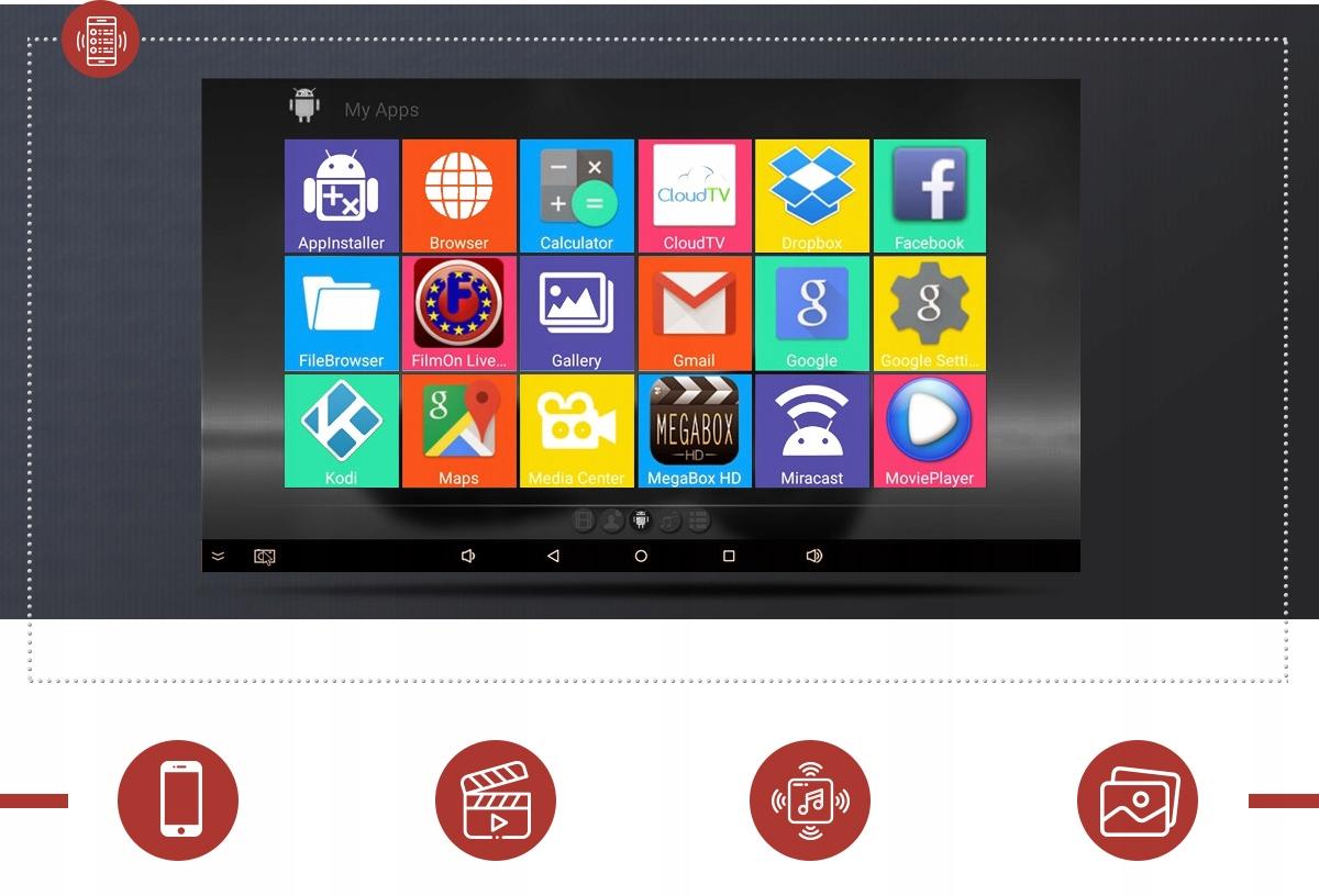 SMART TV-BOKS MXQ PRO + TV-BOKS WIFI HDMI 1/8 ANDROID Diskkapasitet 8 GB