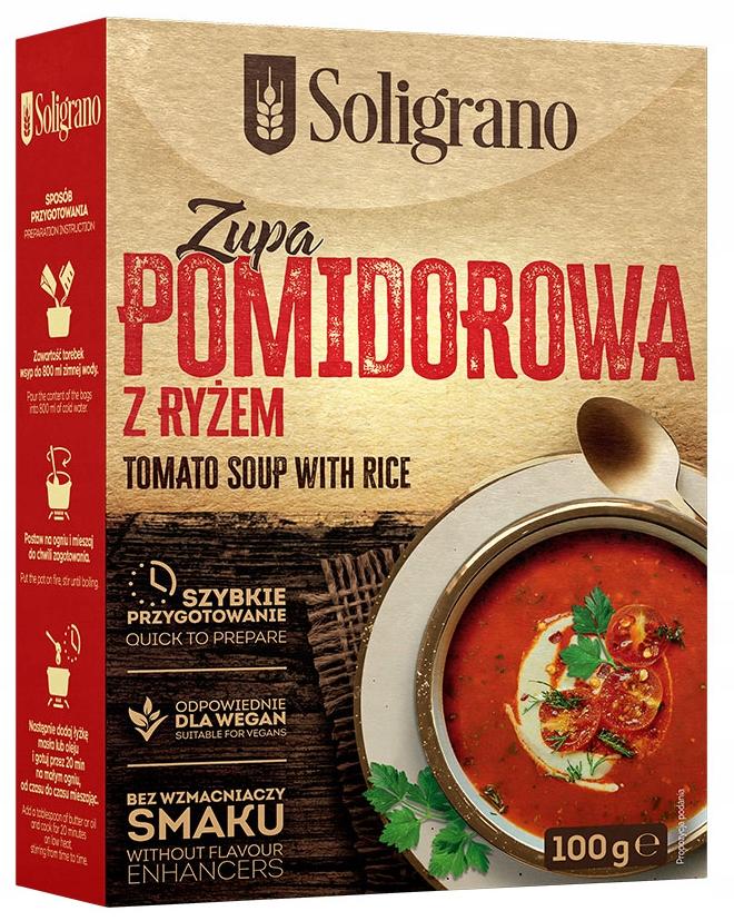 Купить Томатный суп 100 г Солиграно на Otpravka - цены и фото - доставка из Польши и стран Европы в Украину.