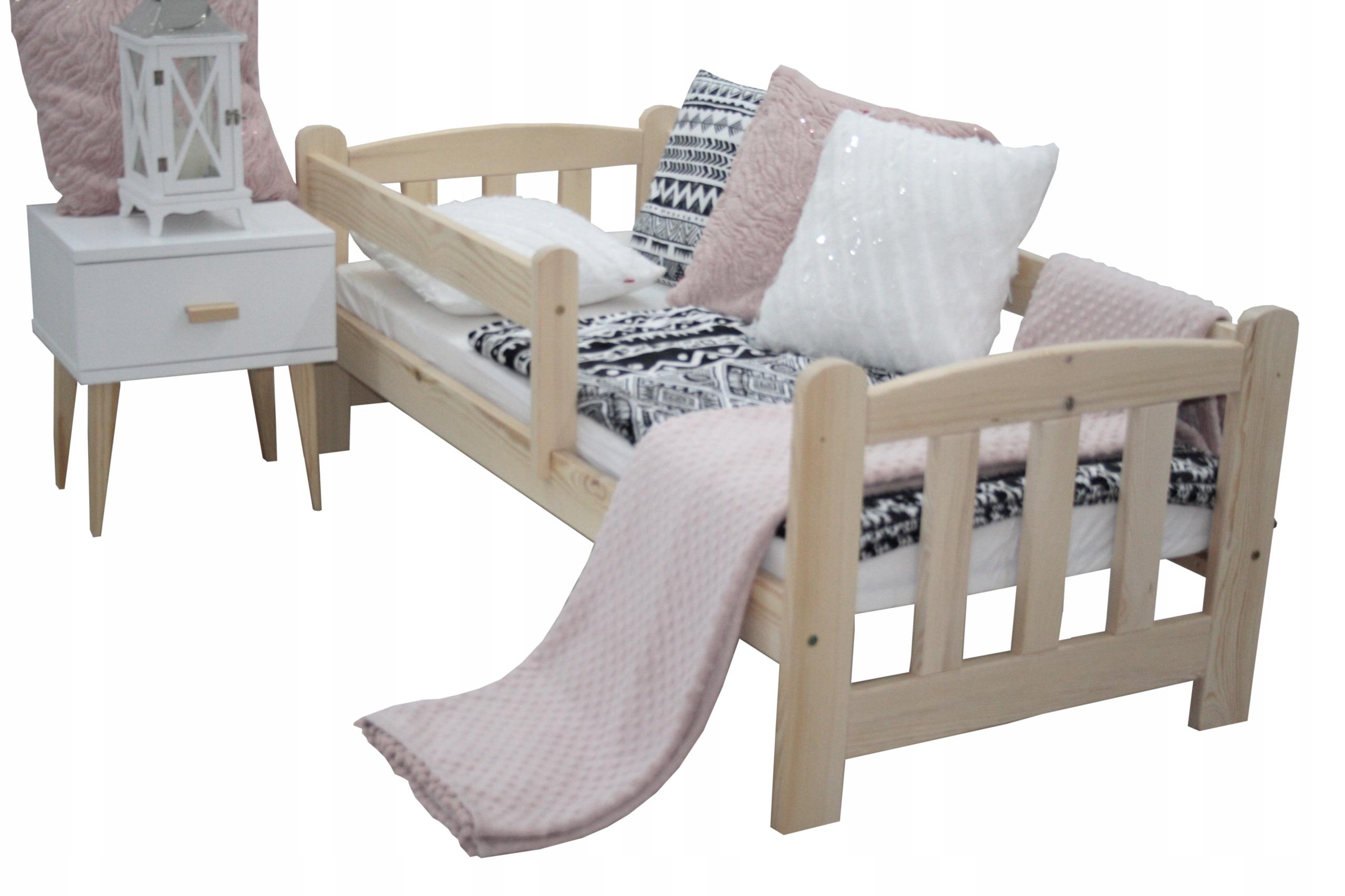 łóżko dziecięce JAŚ 70x160 + stelaż+ barierki