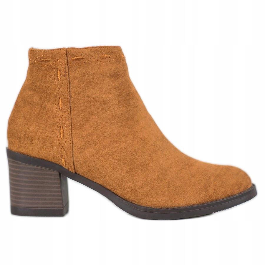 Kylie botki obuwie damskie kobiety brązowe r.39