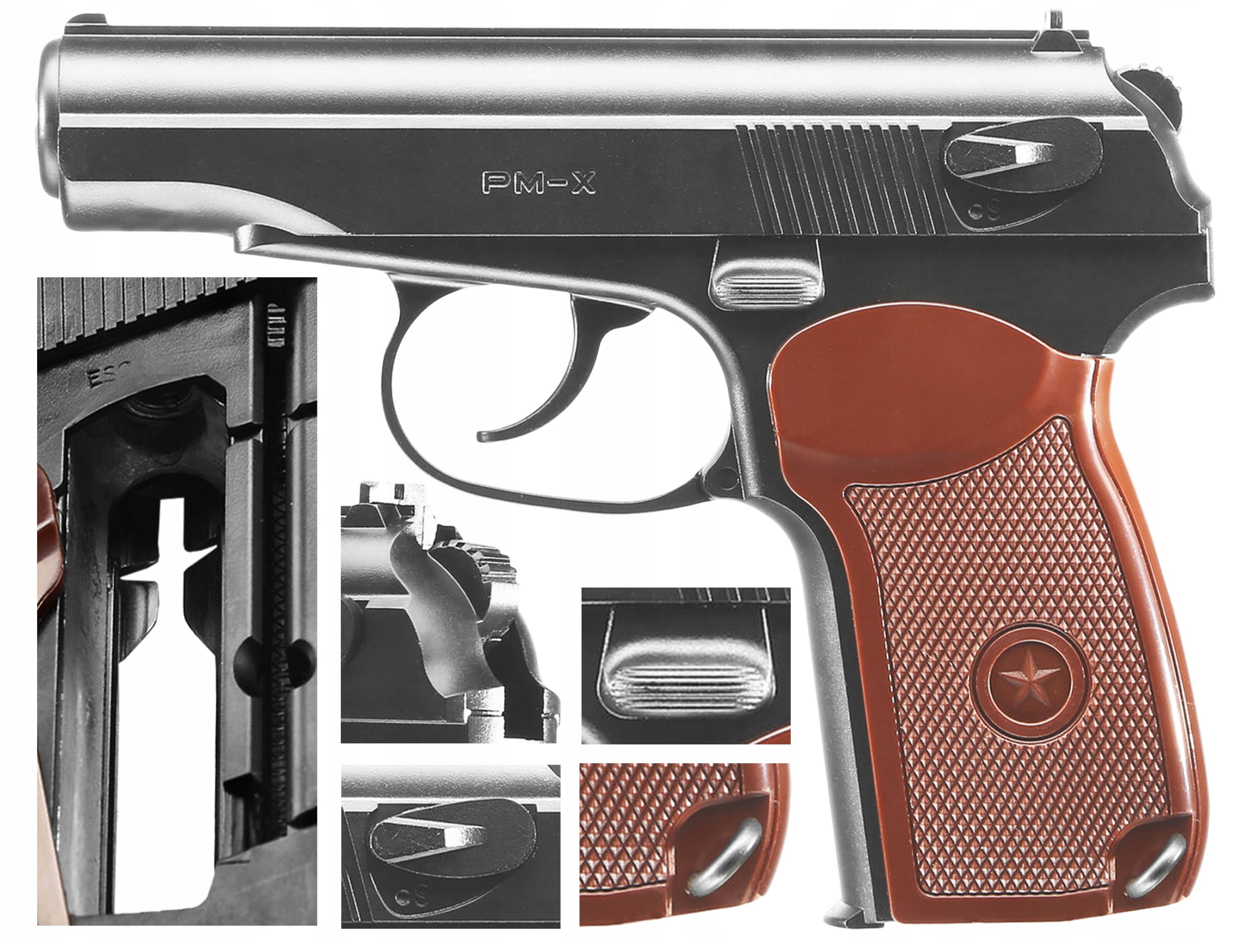 MAKAROV WIATRÓWKA PISTOLET PM-X 4,5 mm BB CO2