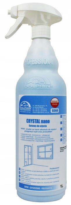 Dolphin CRYSTAL nano жидкость для мытья стекол antypara 1