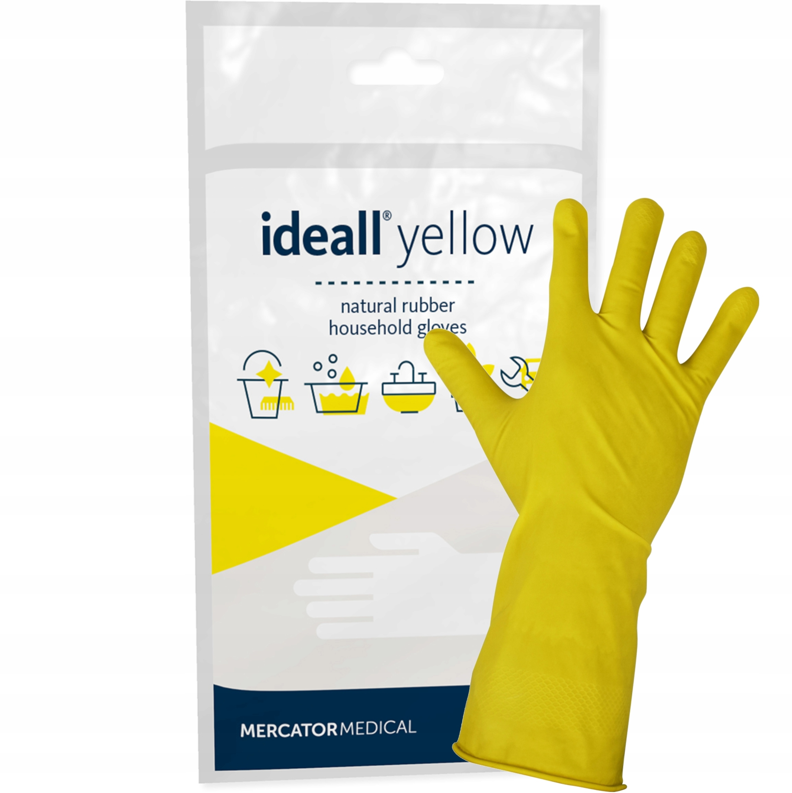 Rękawice gumowe gospodarcze żółte rozmiar M 7 8