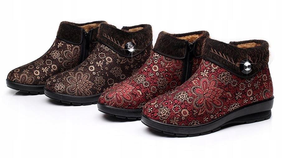 Dámske topánky v kvet dole retro vintage 35
