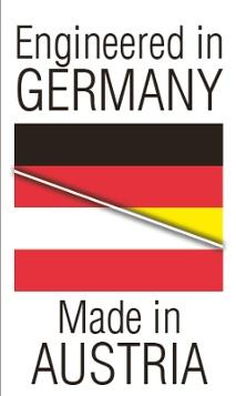 Zaprojektowano w niemczech, wyprodukowano w austrii - baner