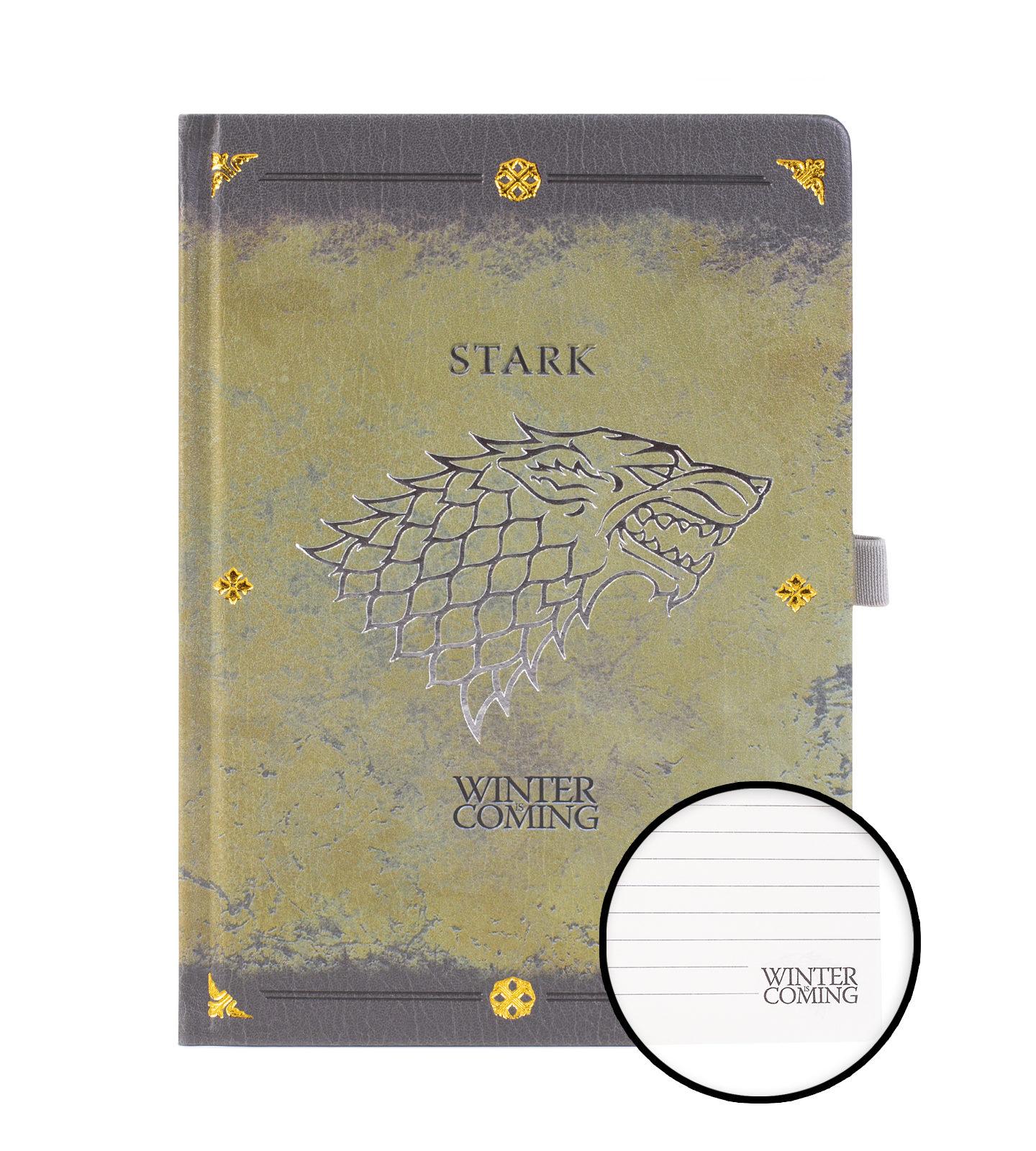 Hra o Throne Stark Wolf - Notes A5, filmový notebook