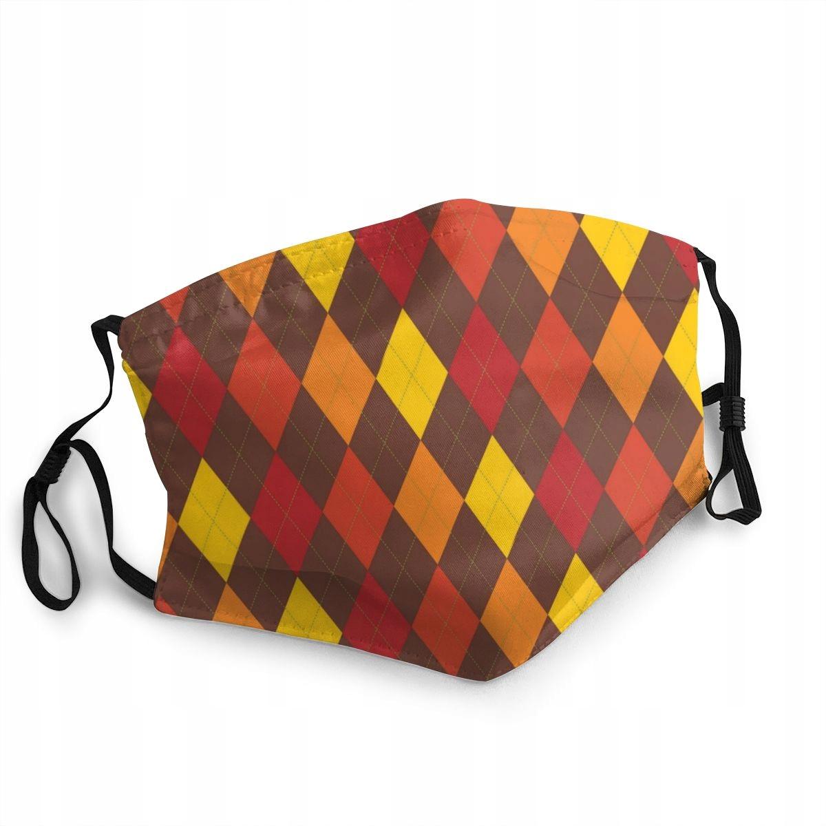Ochranná maska na Deň vďakyvzdania Fall Retro Argyle