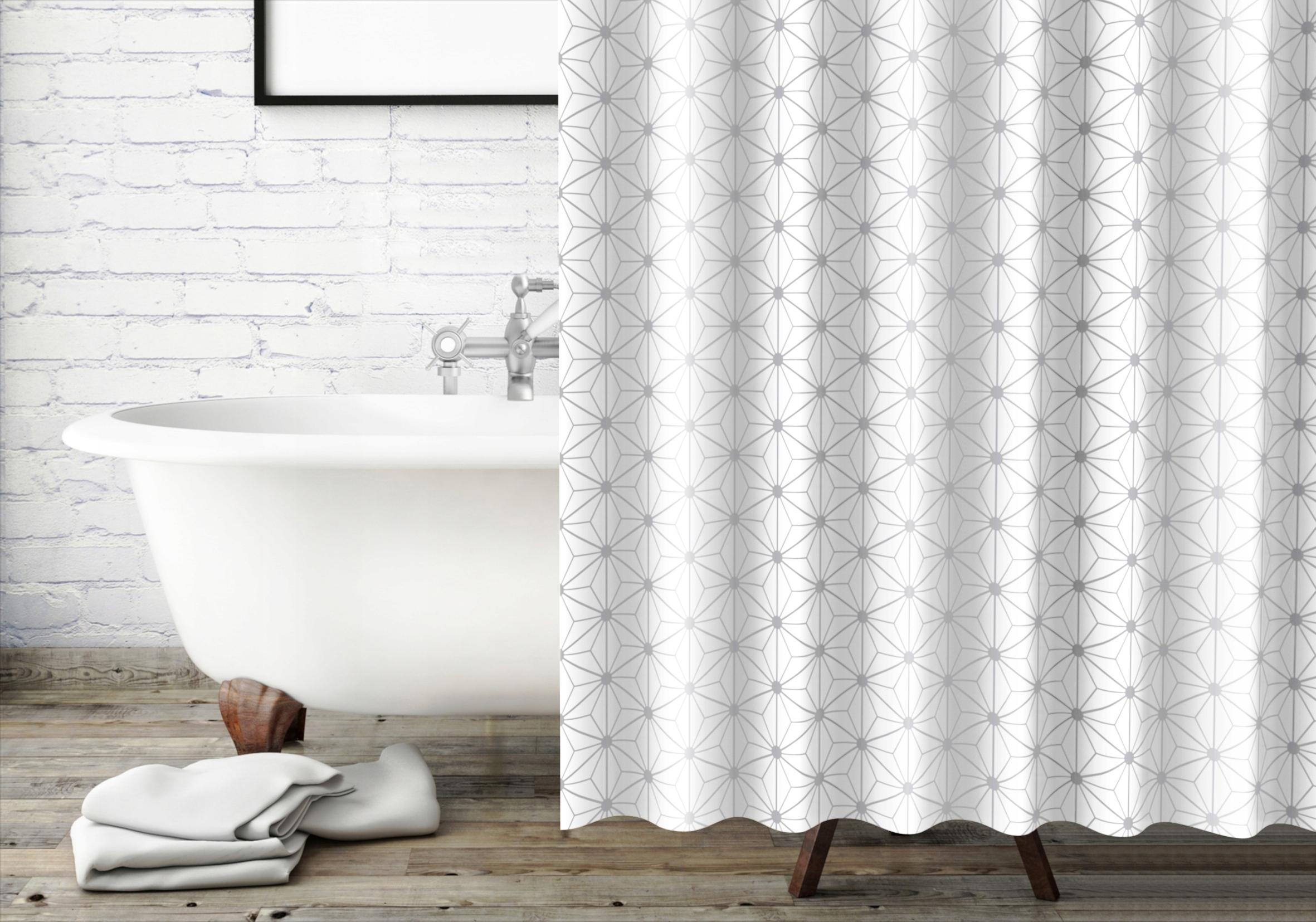 Sprchový a vaňový záves Diamo, 180x180 cm