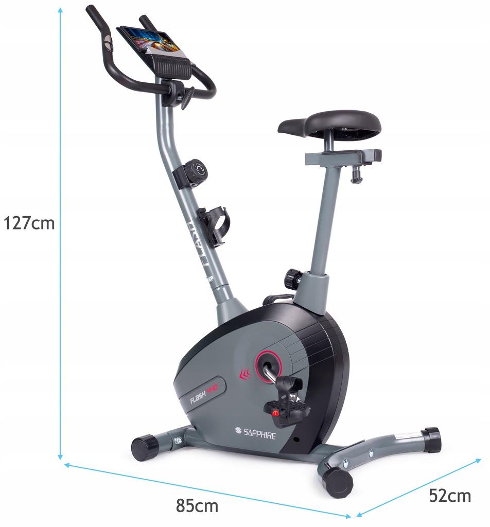 SG FLASH rower magnetyczny TRENINGOWY stacjonarny Cechy dodatkowe kółka transportowe miejsce na bidon miejsce na telefon/tablet podpórka na książkę regulacja kierownicy regulacja siedziska sensory dotykowe uchwyty na stopy wyświetlacz