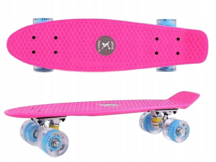 Krátka skateboard 56cm typ FISZK a žiariace kolesá