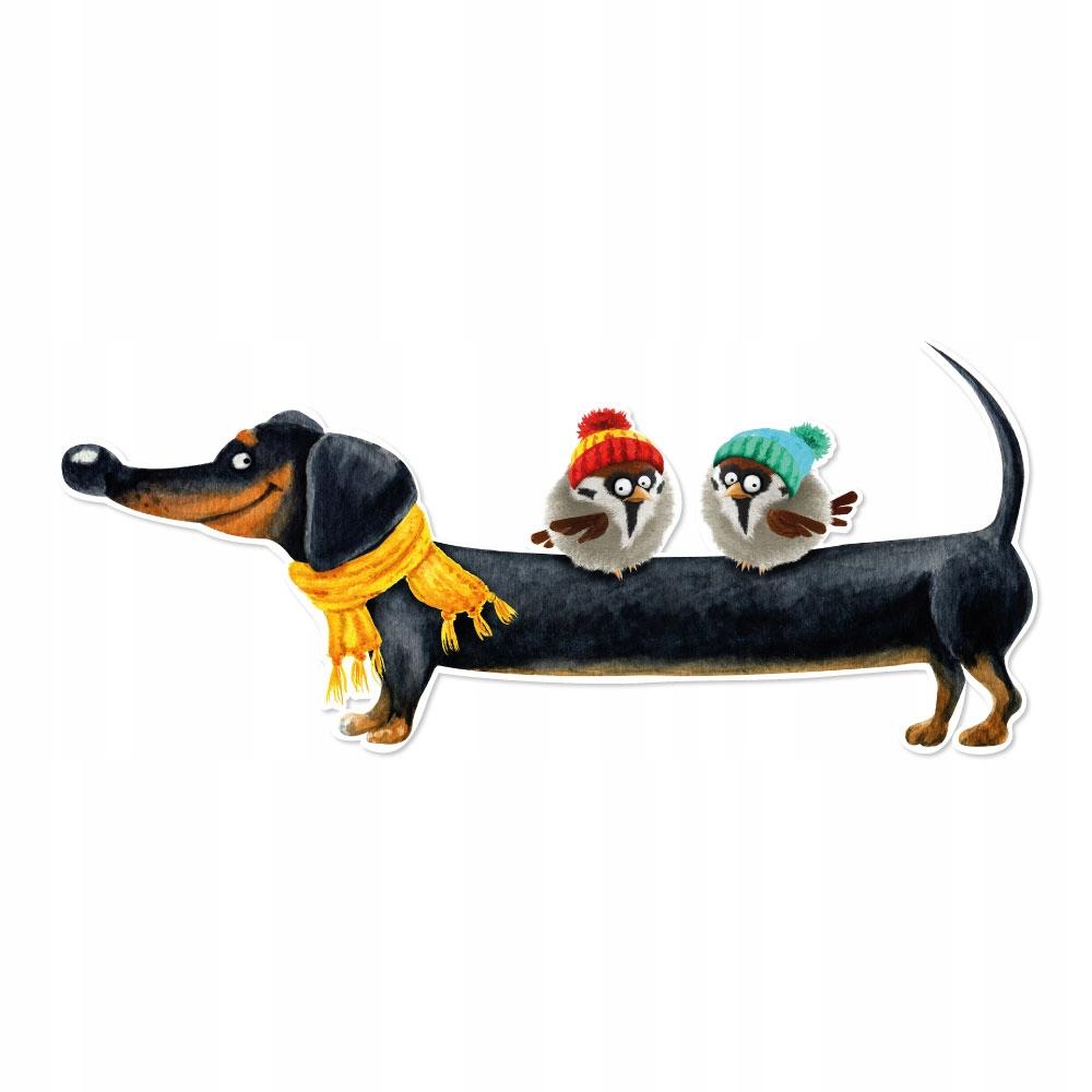 Мягкие наклейки на стену для детей собака 90х38см