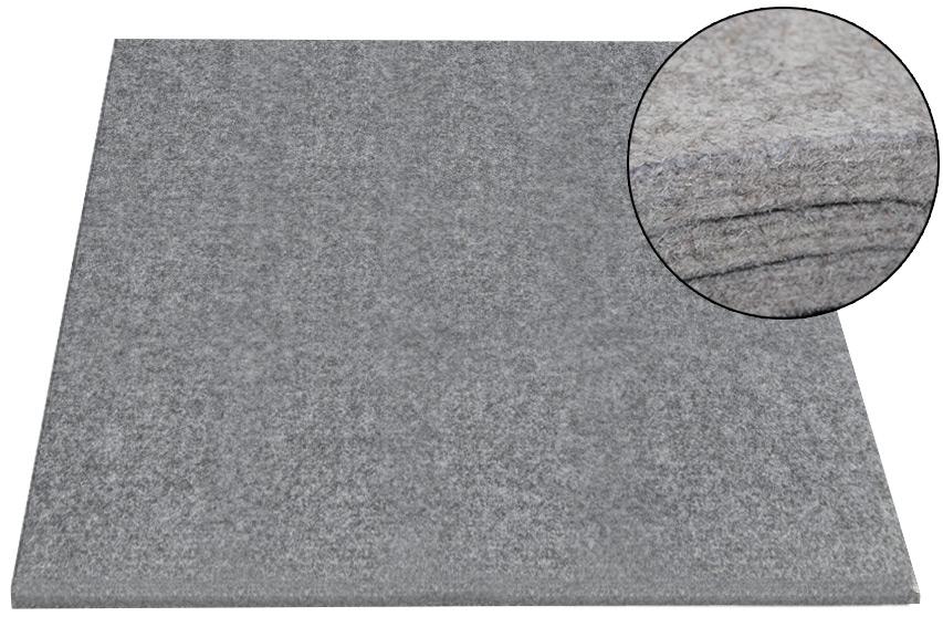 Plstená podložka šedá technická 15mm