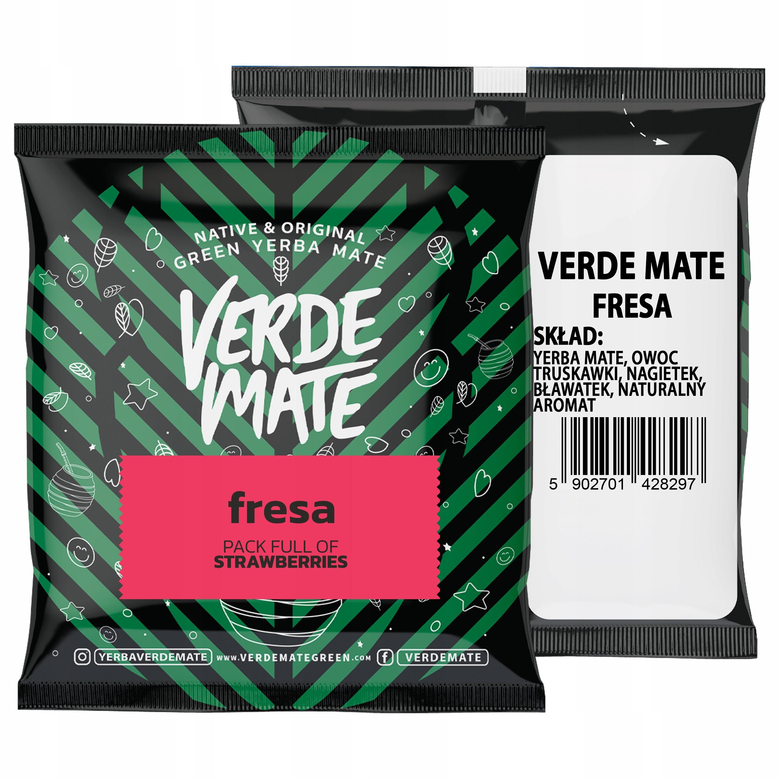 Próbka Yerba Verde Mate Green Fresa Truskawka 50g
