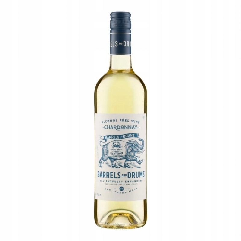 Wino białe bezalkoholowe Barrels Drums Chardonnay