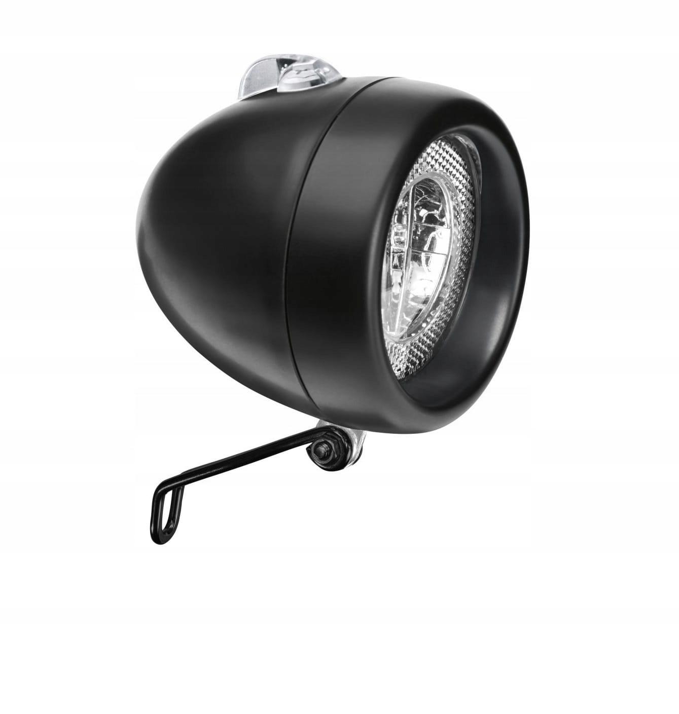 Predná čierna lampa Electra, čierna mat