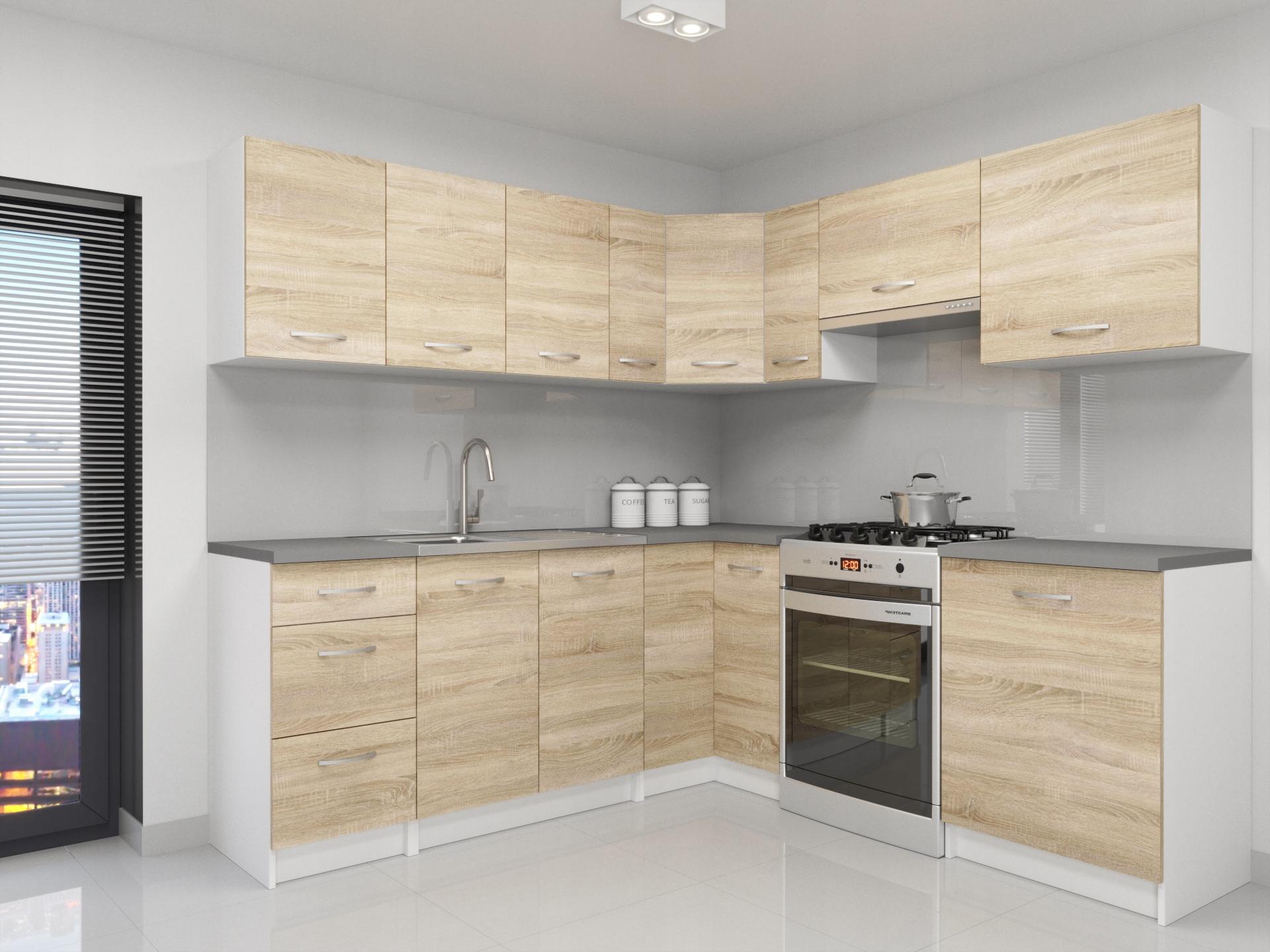Угловой кухонный гарнитур Atlanta Sonoma