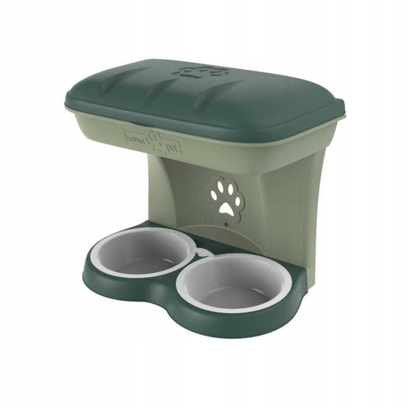 Настенная подставка для миски для собак BAMA с местом для хранения