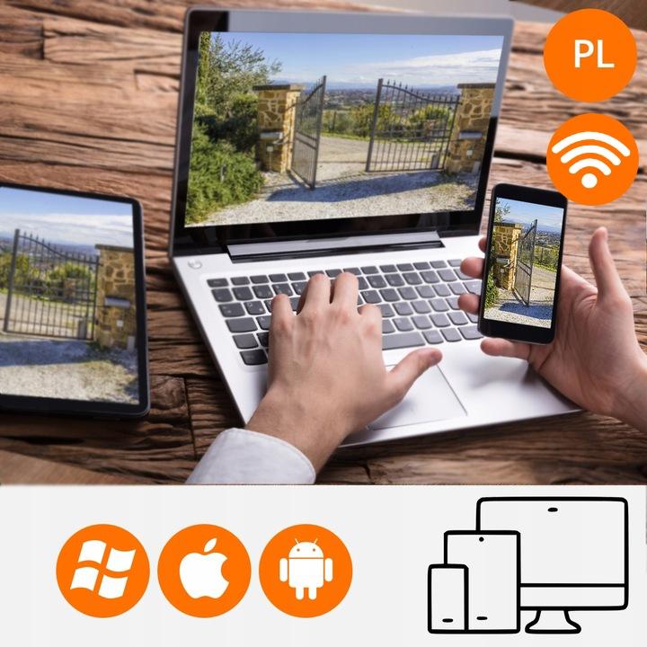 Kamera z Alarmem Zewnętrzna WiFi SYRENA + K. 64 GB Funkcje automatyczna regulacja wzmocnienia (AGC) kompensacja światła z tyłu (BLC) nagrywanie na kartę pamięci szeroki zakres dynamiki (WDR) głośnik mikrofon Wi-Fi