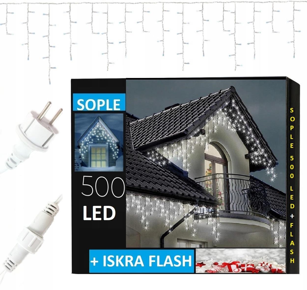 ICICLES 500 LED IP44 НАРУЖНЫЙ ФИКСИРОВАННЫЙ СВЕТ + ВСПЫШКА