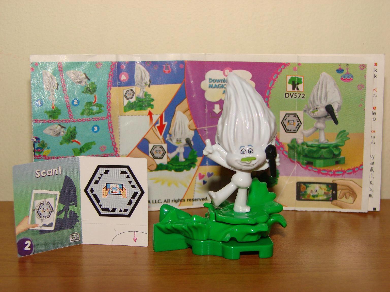 Figurka kinder NOWA Guy Diamond Trolls + kartki